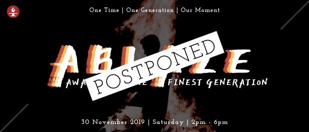 ABLAZE 2019 postponed