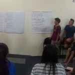 Presentation by youth after group discussion