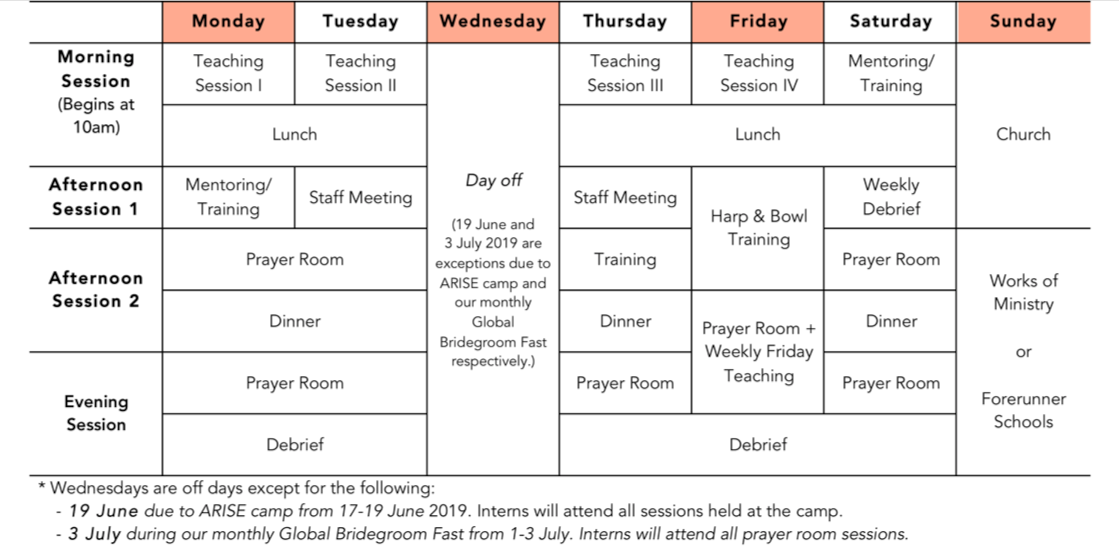 June 2019 Immerse Timetable 2