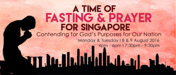 Singapore prayer and fast banner 3